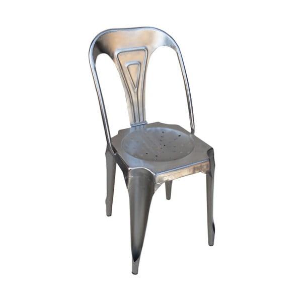Kovová židle Chaise, šedá