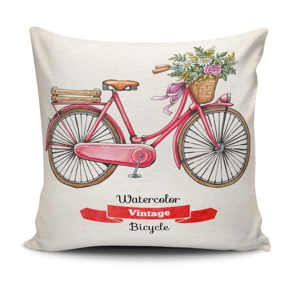 Polštář s příměsí bavlny Cushion Love Bycicle, 45 x 45 cm