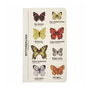 Agendă Gift Republic Multi Butterflies, A6