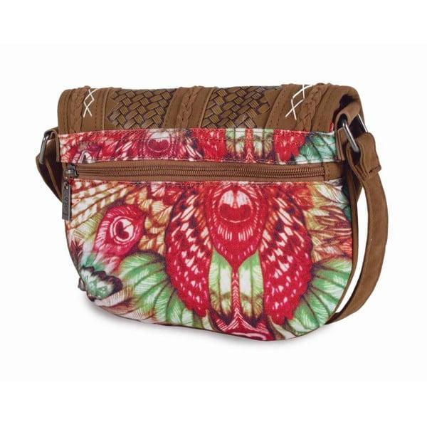 Barevná kabelka laděná do zelena Lois, 25 x 20 cm