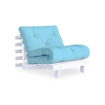 Fotoliu extensibil Karup Design Roots White/Light Blue