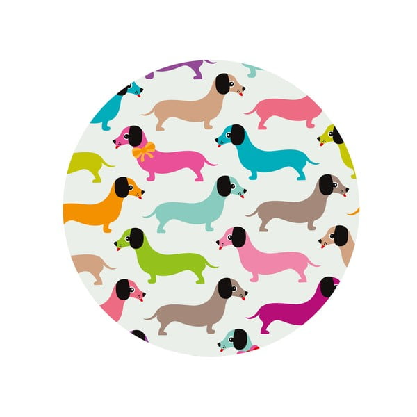 Jídelní stůl Daschshunds In Colours, 120 cm