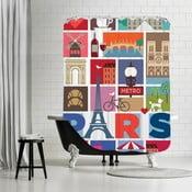Koupelnový závěs Paris, 180x180 cm
