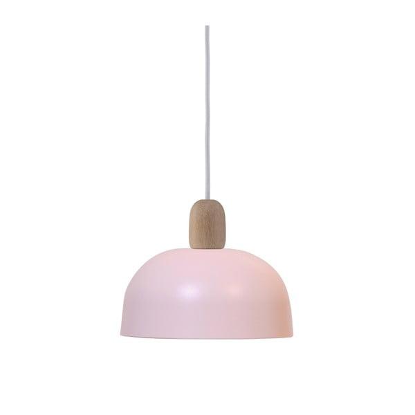 Růžové závěsné svítidlo HARTÔ Nina