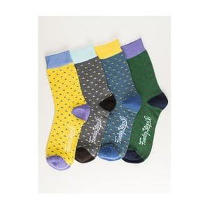 Sada 4 párů unisex ponožek Funky Steps Ligh, velikost39/45