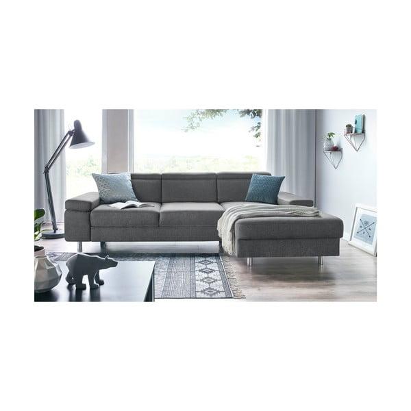 Espace világosszürke kinyitható kanapé, jobb oldali kivitel - Bobochic Paris
