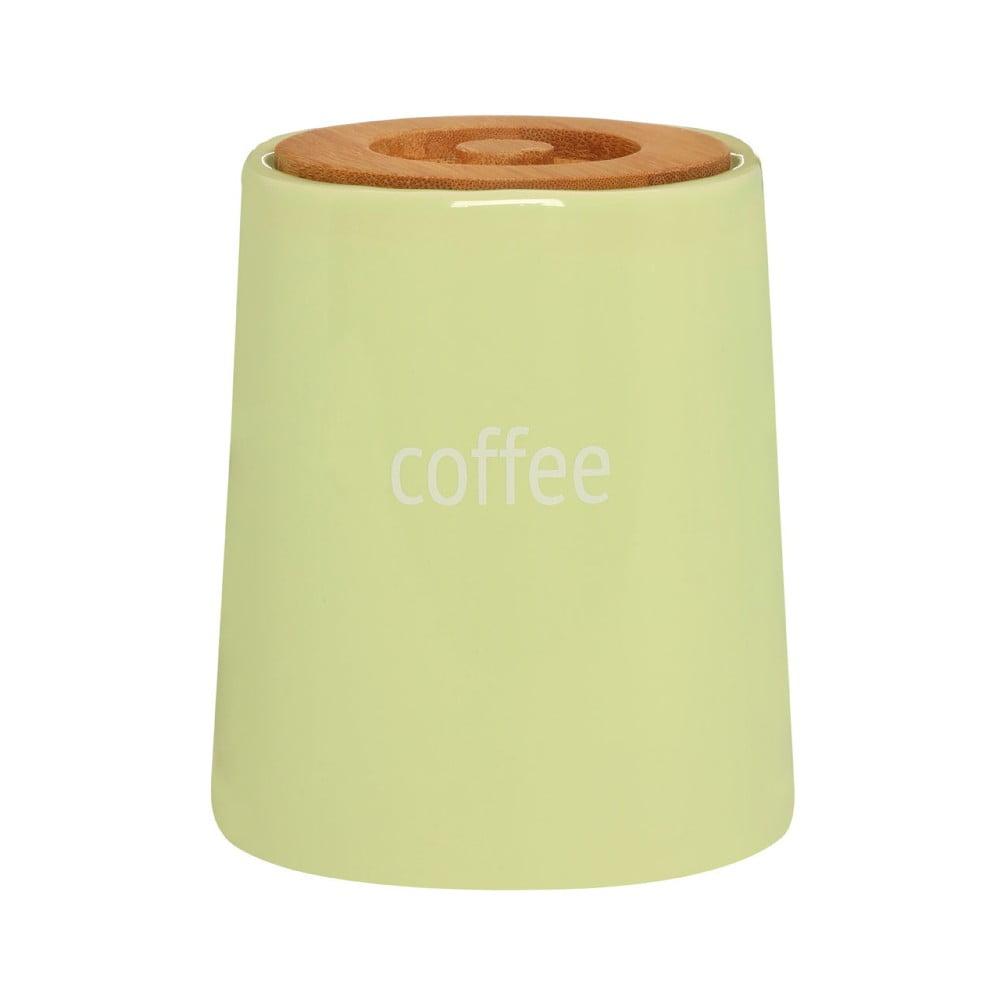 Zelená dóza na kávu s bambusovým víkem Premier Housewares Fletcher