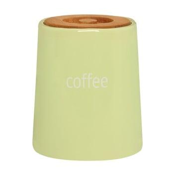 Recipient pentru cafea cu capac din lemn de bambus Premier Housewares Fletcher, 800 ml, verde de la Premier Housewares