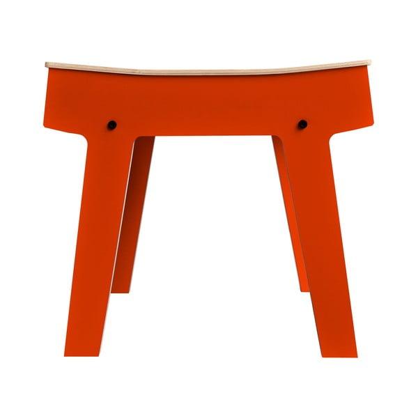 Oranžová stolička/stolek s úložným prostorem rform Pi