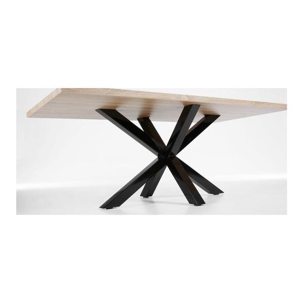 Jídelní stůl s černým podnožím La Forma Arya Natural,délka200cm