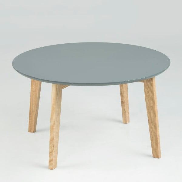 Šedý odkládací stolek Actona Molina, ⌀80cm