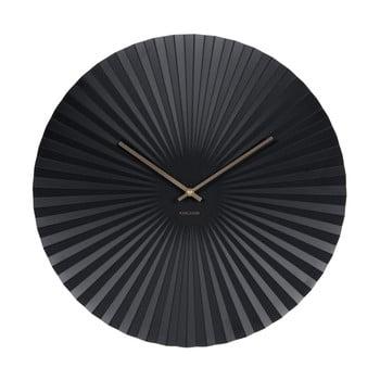 Ceas Karlsson Sensu, Ø 50 cm, negru de la Karlsson