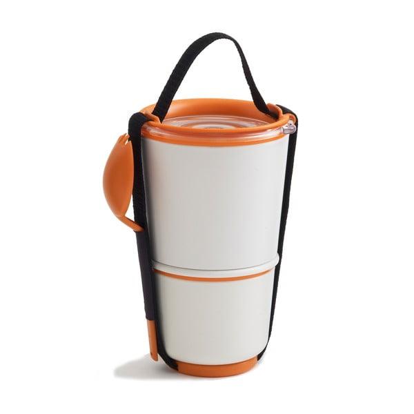 Desiatové misky Black Blum Lunch Pot, bielo-oranžové
