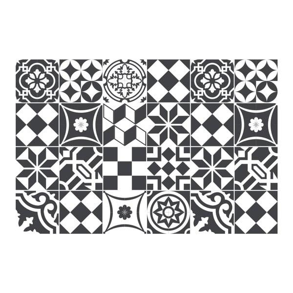Set 24 autocolante Ambiance Noir, 15 x 15 cm