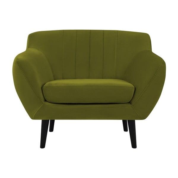 Zelená sametové křeslo Mazzini Sofas Toscane