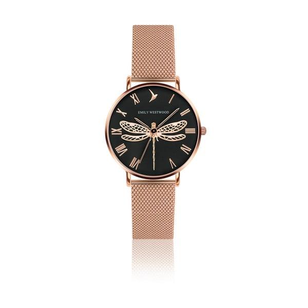 Damski zegarek z bransoletką ze stali nierdzewnej w kolorze różowego złota Emily Westwood Fly