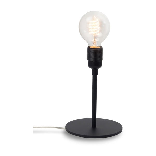 Czarna lampa stołowa Bulb Attack Uno Basic