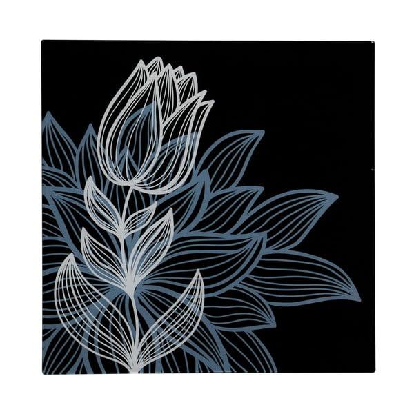 Skleněný obraz Black Tulip, 30x30 cm