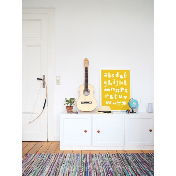 Plakát SNUG.ABC, 50x70 cm, žlutý