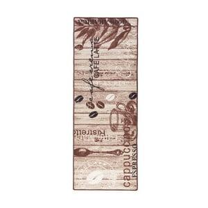 Hnědý kuchyňský běhoun Hanse Home DeliciousCoffee, 67x180cm