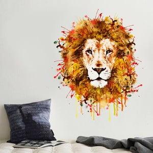 Samolepka na stěnu Malovaný lev, 70x50 cm