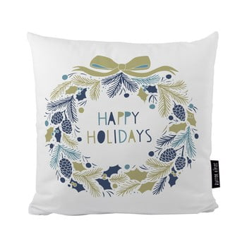 Pernă cu motive de Crăciun Butter Kings Holiday Wreath, 50 x 50 cm