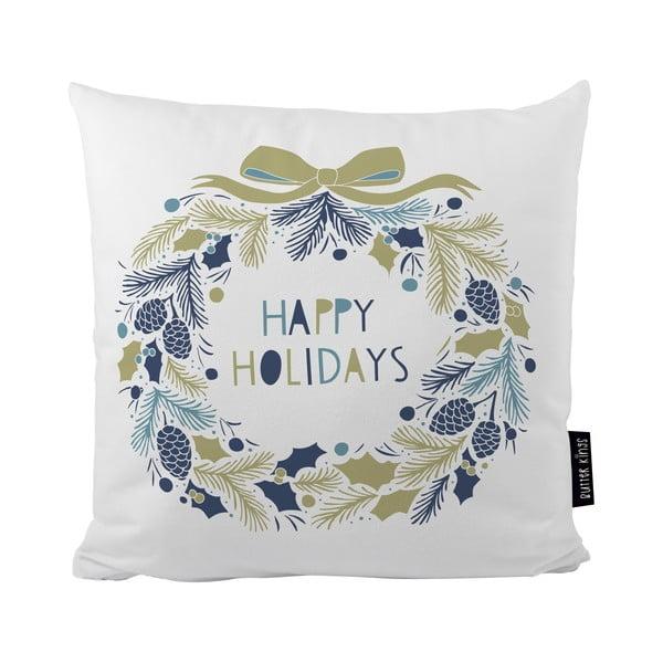 Polštář s vánočním motivem Butter Kings Holiday Wreath,50x50cm