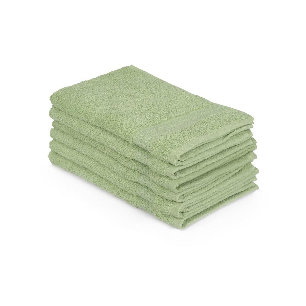 Sada 6 zelených bavlněných ručníků Madame Coco Lento Verde, 30 x 50 cm Hobby