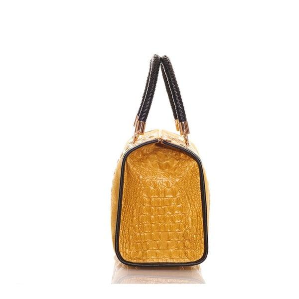 Kožená kabelka Bowling Yellow