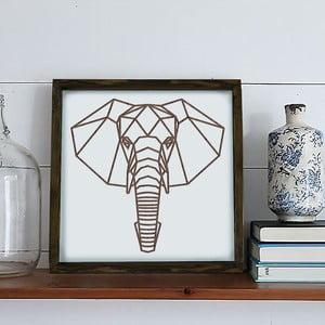 Zarámovaný obraz Dekorjinal Pouff Elephants Head, 33x33cm