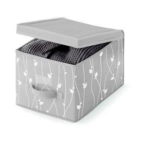 Šedý úložný box Cosatto Leaves, 30x45cm