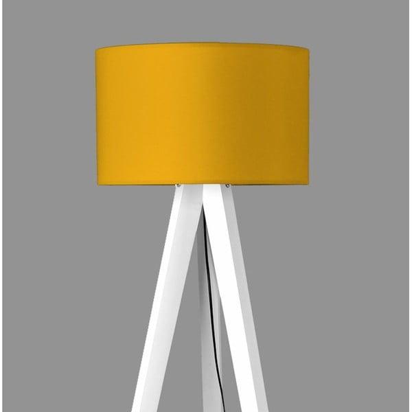 Stojací lampa Tripod Yellow/White