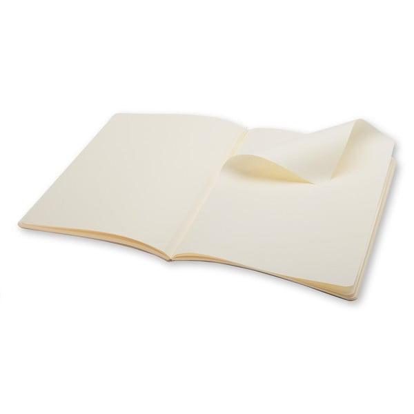 Extra velký bílý zápisník Moleskine Volant, bez linek
