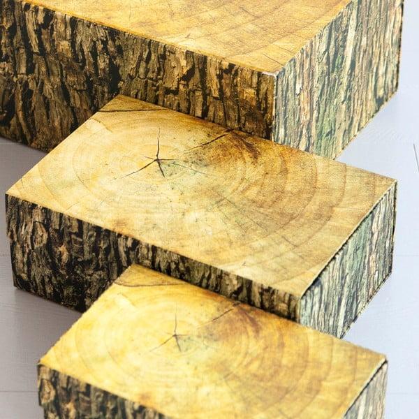 Úložná krabice Woodblock, 30x20 cm
