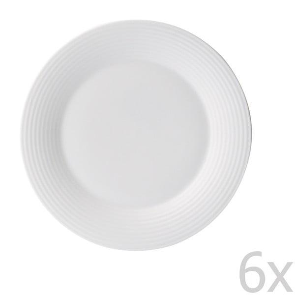 Sada 6 dezertních talířů z kostního porcelánu Flute, 15 cm