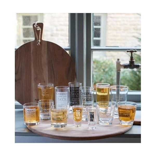 Sada 4 whiskey skleniček Glass
