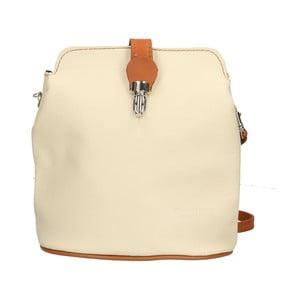 Světle béžová kožená kabelka Chicca Borse Cuoio 0b8ee026559
