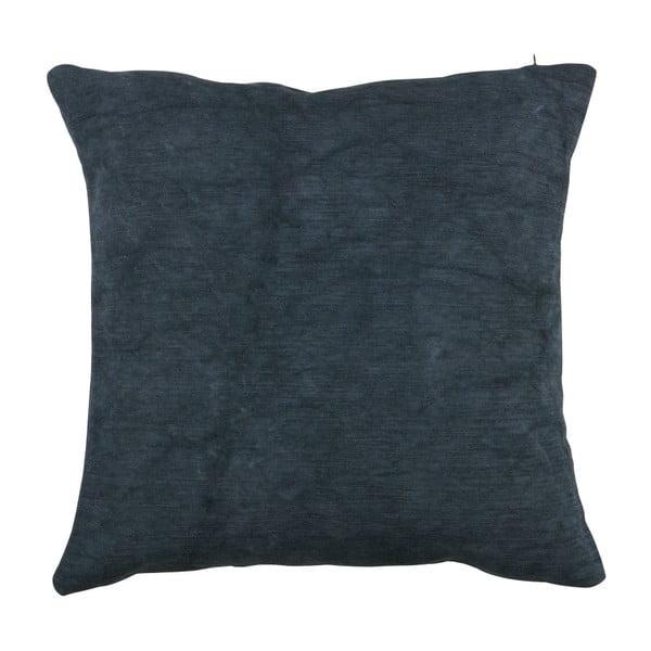 Tmavě modrý polštář WOOOD Belle, 45x45cm