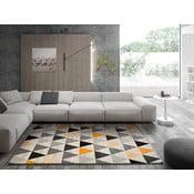 Šedý koberec Universal Leo Triangles, 140 x 200 cm