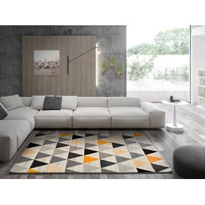 Šedý koberec Universal Leo Triangles, 160 x 230 cm
