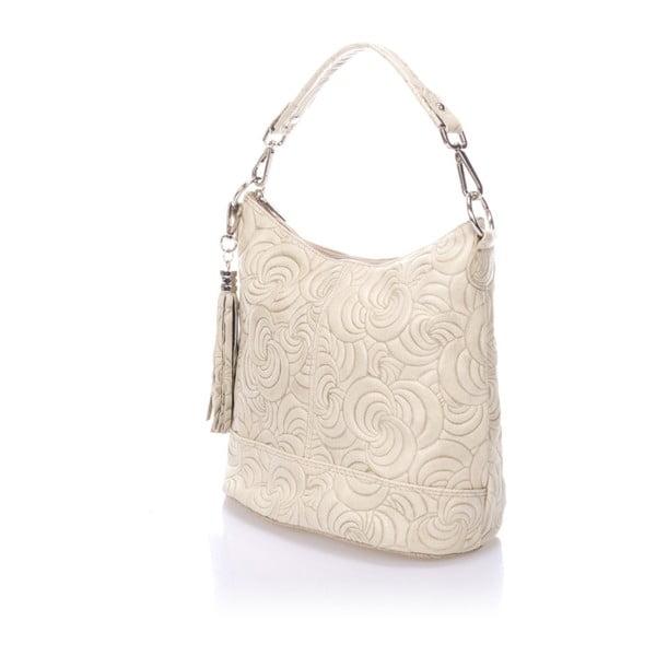 Béžová kožená kabelka Giulia Massari Straps