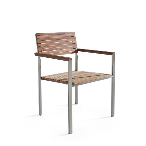Záhradná stolička z teakového dreva Monobeli Alice