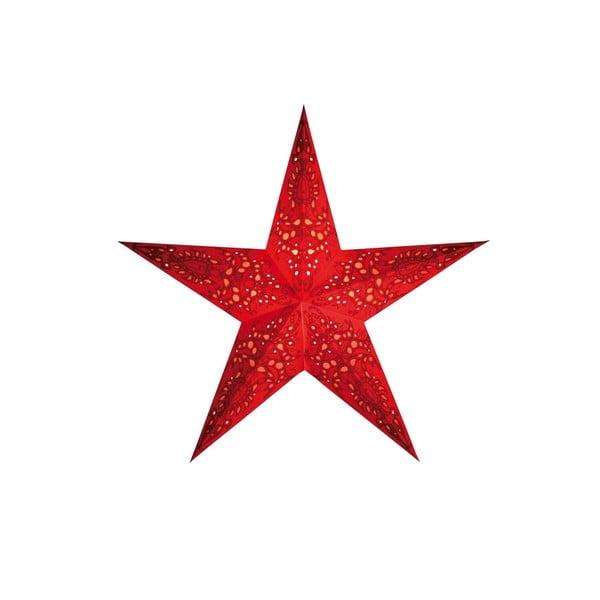 Dekorativní hvězda Mono Small Red, 45 cm