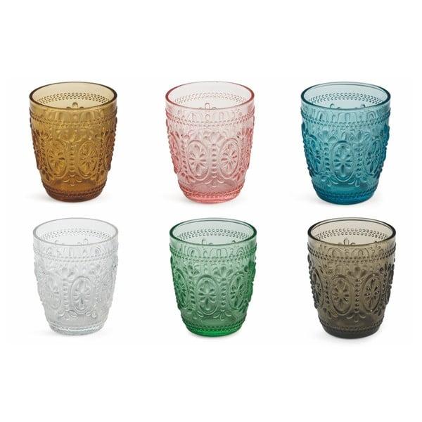 Set 6 pahare colorate Villa d'Este Imperial Bicchieri, 240 ml