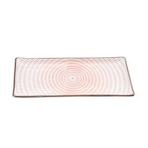 Porcelánový talíř Pink Stripe, 28 cm