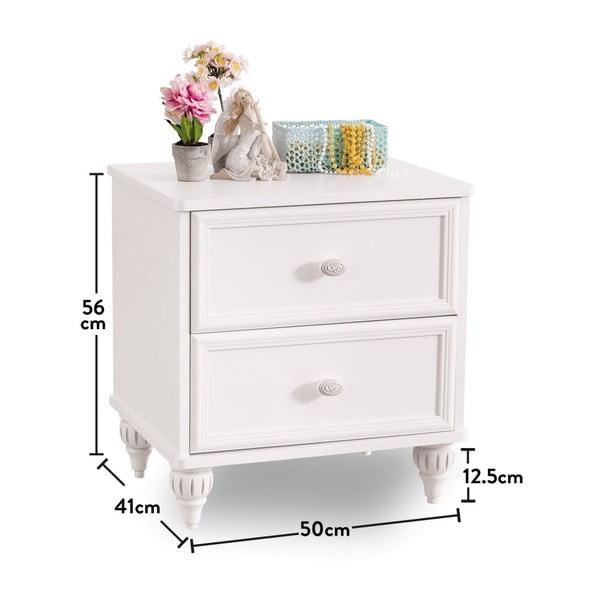 Bílý noční stolek Romantica Nightstand