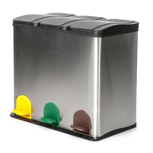 Kôš na recyklovaný odpad v striebornej farbe Tomasucci Recycle, 60 l