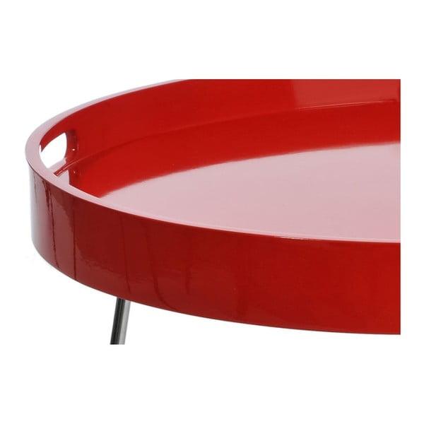 Odkládací stolek Metal Red, 60x44 cm