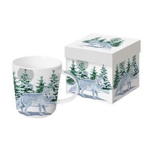 Hrnek z kostního porcelánu s vánočním motivem v dárkovém balení PPD Snow Fox, 350 ml