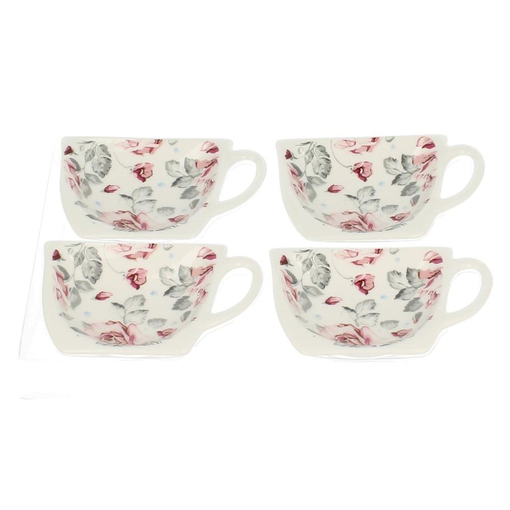 Sada 4 stojánků na čajové sáčky Duo Gift Roses